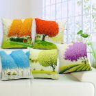 Tanishkam Décor Jute Digital Printing Ultimate Home Décor Cushion Covers Set of 5 (16x16)