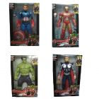 Oviwa Avengers Hulk, Captain America and Iron Man with Weapons Twist and Move Age of Ultron Action Figure, 19cm with LED Light function www