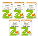 Zindagi Orange Herbal Infusion-Natural Sugar-Free Infusion-Fat and Calorie Free Health Drink-20 Sachets(Pack of 5)