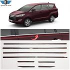 Speed 99 ~ RPM Stainless Steel Chrome Interior Window Trim Compatible with Toyota Innova Crysta Full Set of 8 Premium Exterior Accessories