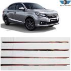 Speed 99~RPM Chrome Stainless Steel Lower Window Garnish Compatible With Honda Amaze Complete Set Of 4 Pcs Exterior Accessories