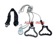 Albio Overhead Hand Shoulder Pulley Equipment Kit With Rope For Home Gym Exercise & Physical Therapy - Plastic Handle