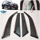 Speed 99~RPM Chrome line door visor Wind Deflector Compatible with KIA SONET set of 4pcs 360 degree foldable non breakable extra clear premium