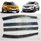 Speed 99~RPM Chrome Line Door Visor Compatible With Renault TRIBER Set Of 4 Pcs 360 Degree Foldable Non Breakable Extra Clear Premium