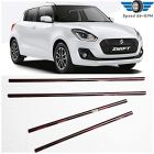 Speed 99~RPM Chrome Stainless Steel Lower Window Garnish For Maruti Swift 2018-20 Complete Set Of 4 Pcs Exterior Accessories