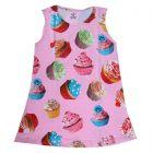 Chocoberry Girls' Knee Length Dress Printed Ice - Pink