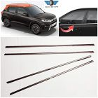 Speed 99~RPM Chrome Stainless Steel Lower Window Garnish For Maruti Brezza Complete Set Of 4 Pcs Exterior Accessories