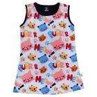 Chocoberry - Self Printed Girls Kids Short Dress Aline Frock Summer Dress Super Soft Dress Cotton Hosiery