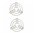 Krivish Stainless Steel Round Pressure Cooker & Other Kitchen Cooking Pot Stand Holder (2 Pcs)