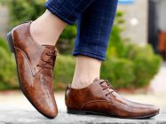 Bxxy's Men New Arrival Patent Material Party Wear Casual Derby Shoes