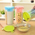 3 in 1 Transparent Sealed Jars Plastic Storage Box For Kitchen