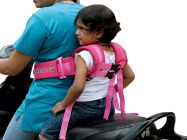 Kidsafe Nylon Safety 2 Wheeler Travel with Expandable Straps Baby's Carrier (Black)
