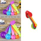 Krivish Colorful Plastic Measuring Spoons For Kitchen Cooking and Baking - (Set of 5)