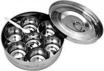 Mand High-Quality Stainless Steel Masala Dani Container (Silver)