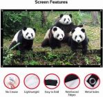 Foldable Eyelet 10 Ft (W) x 8 Ft (H) - 150 Inch Design 113 Projector Screen (Ratio: 4:3) (Width 309 cm x 244 cm Height)