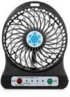Rechargeable Battery Operated High Speed Mini Fans Use For Study, Home, Office, Table Fan (Black)