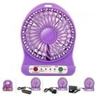 Rechargeable Battery Operated High Speed 180 8PN_viv_o Portable Mini USB Fans Use For Home and Office (Purple)