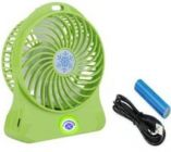 Rechargeable Battery Operated High Speed 172 50RP_mi Portable Mini USB Fans Use For Home and Office (Green)