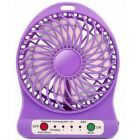 Rechargeable Battery Operated High Speed 160 38IG_mi Portable Mini USB Fans Use For Home and Office (Purple)