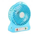 Rechargeable Battery Operated High Speed 184 12LJ_viv_o Portable Mini USB Fans Use For Home and Office (Blue)