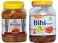 Healthy and Tasty Natraj The Right Choice Bans and Bihi Murabba (Pack of 2) (2*1 Kg)