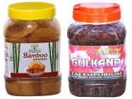 Healthy and Tasty Natraj The Right Choice Bans and Gulkand Murabba (Pack of 2) (2*1 Kg)