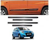 After Cars Maruti Suzuki A Star Car Black Side Beading with Chrome Line Set of 4