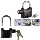 Anti Theft Security Pad Lock with Smart Alarm, Burglar Black Waterproof Siren Alarm