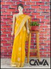 WACA Stylish & Trendy Saree with Chikan Embroiderywhich comes Inclusive of a Blouse Piece for Women's (Pack: Pack of 1) | (Color: Amber Yellow)