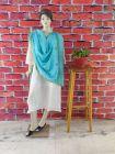 WACA Stylish & Modish Bhagalpuri Silk Cloth Dupatta with Chikankari Work with a Zari Border for Women's (Pack of 1) | (Color: Aqua Blue)