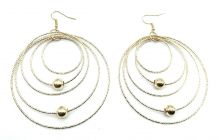 Haute Fashion Indo Western Round Hoops Fish Hook Earrings for Women (Pack of 2)