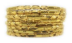 Haute Fashion Traditional Daily Wear Gold Plated Bangles for Women (Pack of 8) (Size 2/8)