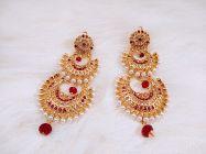 ManshiCreation Trendy Gold Plated Rajputi Earrings for Women & Girls