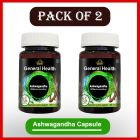 Herbal and Natural Cipzer Ashwagandha 60 Capsule for Energy, Brain, Healthy Immune System (Pack of 2)