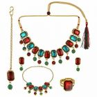CATALYST Stylish Gold Plated & Kundan Bridal Jewellery Set For Womens