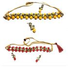 CATALYST Stylish and Designer Choker Necklace With Earrings for Women & Girls (Pack of 2)