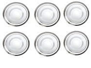 Apro High Quality Silver Stainless Steel Quarter Plates Heavy Weight Home Kitchen Dining (Silver) (Pack of 6)