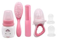 LWVAX Baby Products Set of Baby Feeding Bottle, Brush, Comb, and Cover Baby Gift Set