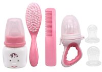 Baby Safety Care Set with Hair Brush Comb and Newborn Baby Bottle Feeding Gift Set - BPA-Free