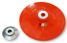 THS Plastic Backing Pad With Grinder Nut for Sander Polisher Angle Grinders M10, 5 Inch 125mm (Pack of 2)