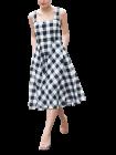 Bagrecha Creations Stylish Sleeveless One Piece Check Pattern Western Wear Dress For Girl's & Women's