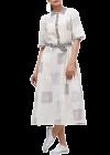 Bagrecha Creations Orry Western Mix-Rayon Digital Print Knee-Length Dress for Women - White/Grey