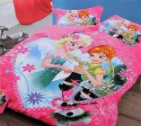 FABRIC EMPIRE Cotton Heart Barbie Printed Kids Version Comforter Set With 1 Double Bedsheet and 2 Pillow Covers