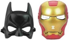 PTCMART Batman And Iron Men Shape Face Mask For Kids Party Mask  (Multicolor, Pack of 2)
