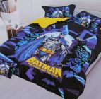 FABRIC EMPIRE Cotton Batman Printed Kids Version Comforter Set With 1 Double Bedsheet and 2 Pillow Covers