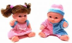 Leo And Lola Beautiful Doll Set For Kids (Assorted Colour Design) (Pack Of 2)