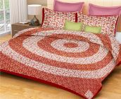 FABRIC EMPIRE Luxury Cotton 152 TC Bedsheet With 2 Pillow Cover(Size: Large)