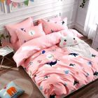 FABRIC EMPIRE Cotton Kids Version Double Bedsheet With 2 Pillow Covers (Size: 90 X 100 Inch)