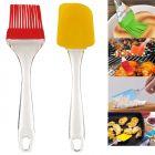 Krivish Multicolor Large Silicone Baking, Glazing, Decoration, Flipping, Mixer, Basting Spatula & Oil Cooking Brush (2 Pcs)