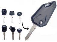 Mand High-Quality Silicone Bike Flip Key Compatible For Hero Splender, Hunk, Karizma (Black) (Pack of 1)